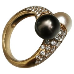 Van Cleef & Arpels Diamond Pearl Ring