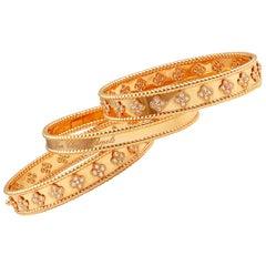 Van Cleef & Arpels Diamond Perlee Bracelets