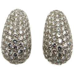 Van Cleef & Arpels Diamond Platinum Bombe Ear Clips