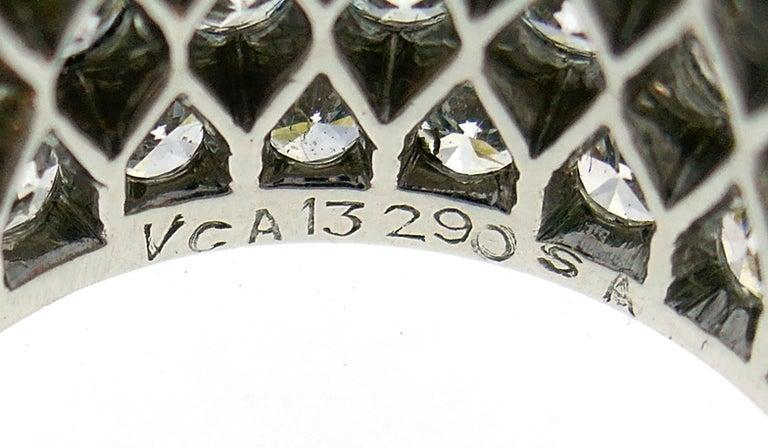 Van Cleef & Arpels Diamond Platinum Eternity Band Ring Size 6 1