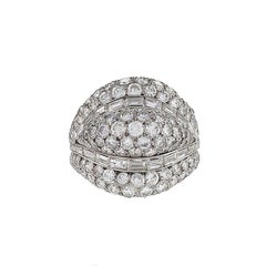 Van Cleef & Arpels Diamond Bombé Ring