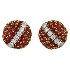 Van Cleef & Arpels Province Ruby Bombe Earrings