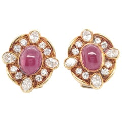 Van Cleef & Arpels Diamond Ruby Earclips