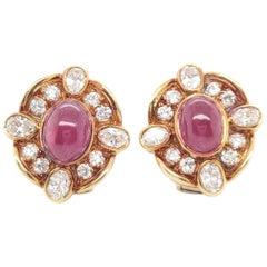 Van Cleef & Arpels Diamond Ruby Earclips