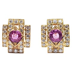 Van Cleef & Arpels Diamond Sapphire Earrings