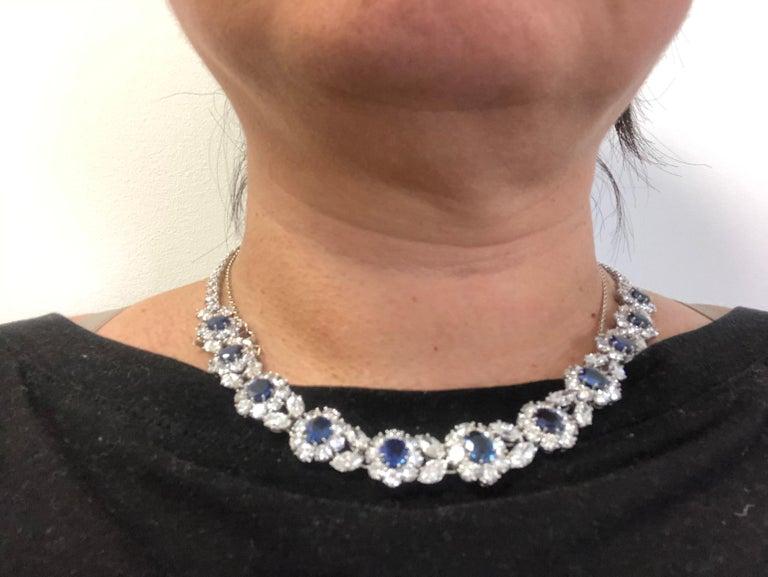 Women's Van Cleef & Arpels Diamond, Sapphire Necklace For Sale