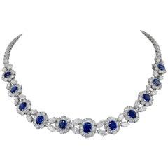 Van Cleef & Arpels Diamond, Sapphire Necklace