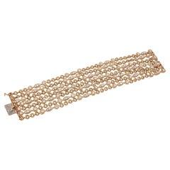 Van Cleef & Arpels Diamond Seven Row Link Bracelet