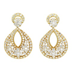 Van Cleef & Arpels Diamond 'Snowflake' Large Earrings