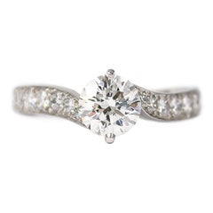 Van Cleef & Arpels Diamond Solitaire Bypass Ring