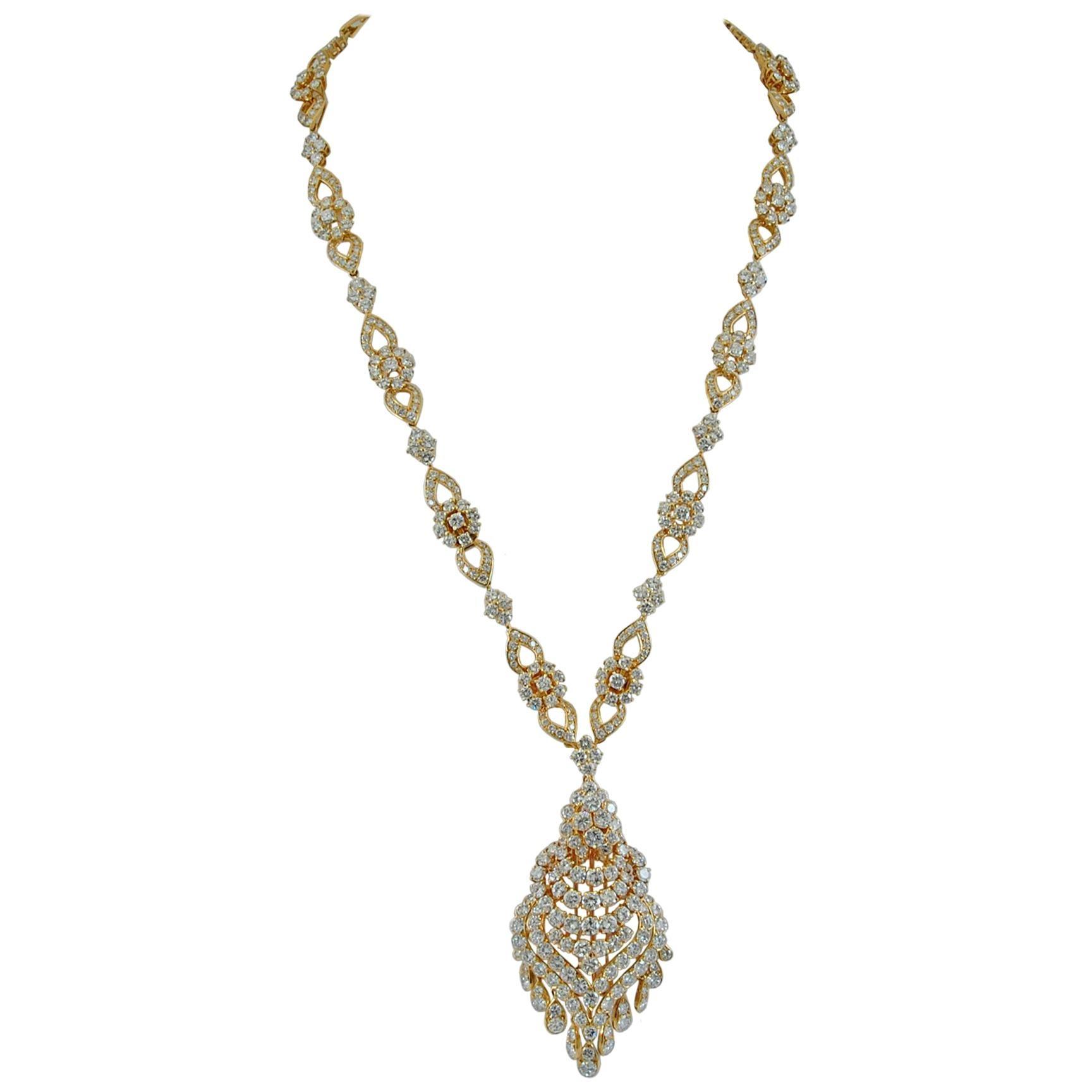Van Cleef & Arpels Diamond Tassel Gold Necklace or Bracelet