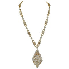 Van Cleef & Arpels Diamond Tassel Gold Necklace or Bracelet