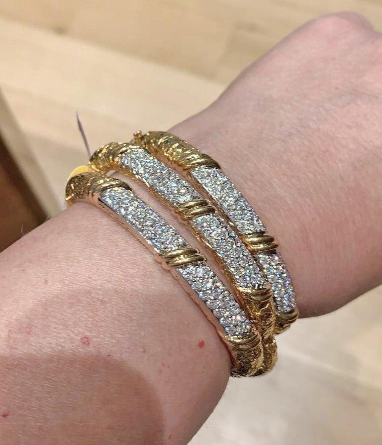 Round Cut Van Cleef & Arpels Diamond Three Bracelets For Sale