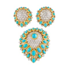 Van Cleef & Arpels Diamond Turquoise Poire Suite