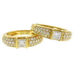 Van Cleef & Arpels Diamond Yellow Gold Band Ring Duo VCA