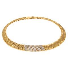 Van Cleef & Arpels Diamond Yellow Gold Choker Necklace