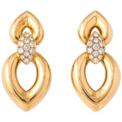 Van Cleef & Arpels Diamond Yellow Gold Clip-On Earrings