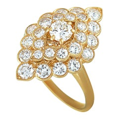 Van Cleef & Arpels Diamond Yellow Gold Cocktail Ring