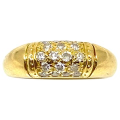 Circa 1968 VAN CLEEF & ARPELS Diamond Yellow Gold Philippine Dome Band Ring
