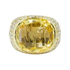 Van Cleef & Arpels Diamond, Yellow Sapphire Ring