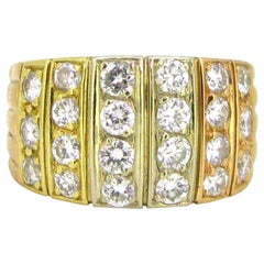 Van Cleef & Arpels Diamonds Ring, 18kt Yellow, White and Rose Gold, France, circ