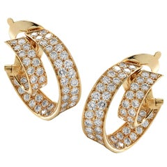 Van Cleef & Arpels Double Hoop Diamond Earrings