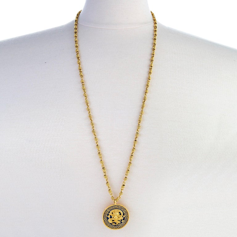 Van Cleef & Arpels Dragon Zodiac Pendant Necklace In Excellent Condition For Sale In New York, NY