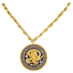 Van Cleef & Arpels Dragon Zodiac Pendant Necklace
