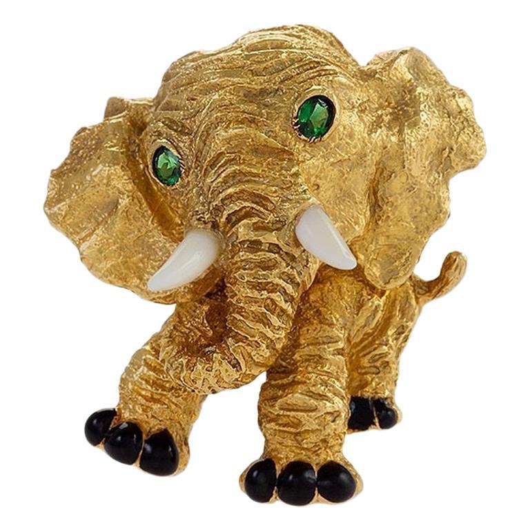 Van Cleef & Arpels Elephant Brooch For Sale