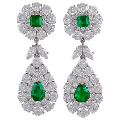 Van Cleef & Arpels Emerald and Diamond Earrings