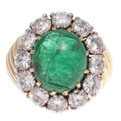 Van Cleef & Arpels Emerald Diamond Platinum Gold Ring