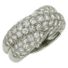 Van Cleef & Arpels Entrelacs Diamond White Gold Ring