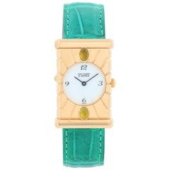 Van Cleef & Arpels Façade 18 Karat Yellow Gold Vintage Watch