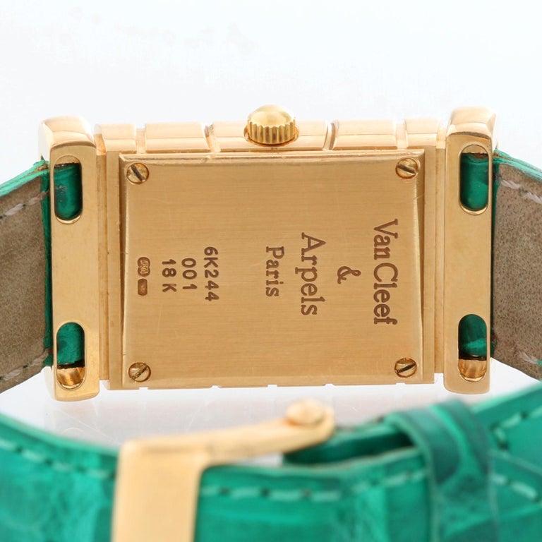 Women's Van Cleef & Arpels Façade 18 Karat Yellow Gold Vintage Watch For Sale
