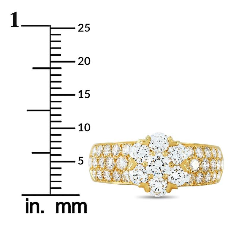 Van Cleef & Arpels Fleurette 18 Karat Yellow Gold 1.50 Carat Diamond Ring 1