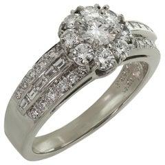 Van Cleef & Arpels Fleurette Diamond Platinum Flower Ring
