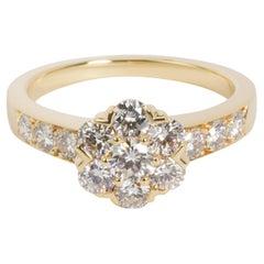 Van Cleef & Arpels Fleurette Diamond Ring in 18K Yellow Gold 0.74 CTW