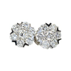 Van Cleef & Arpels Fleurette Large Diamond Stud Earrings