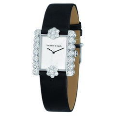 Van Cleef & Arpels Fleurette Square Diamond Watch