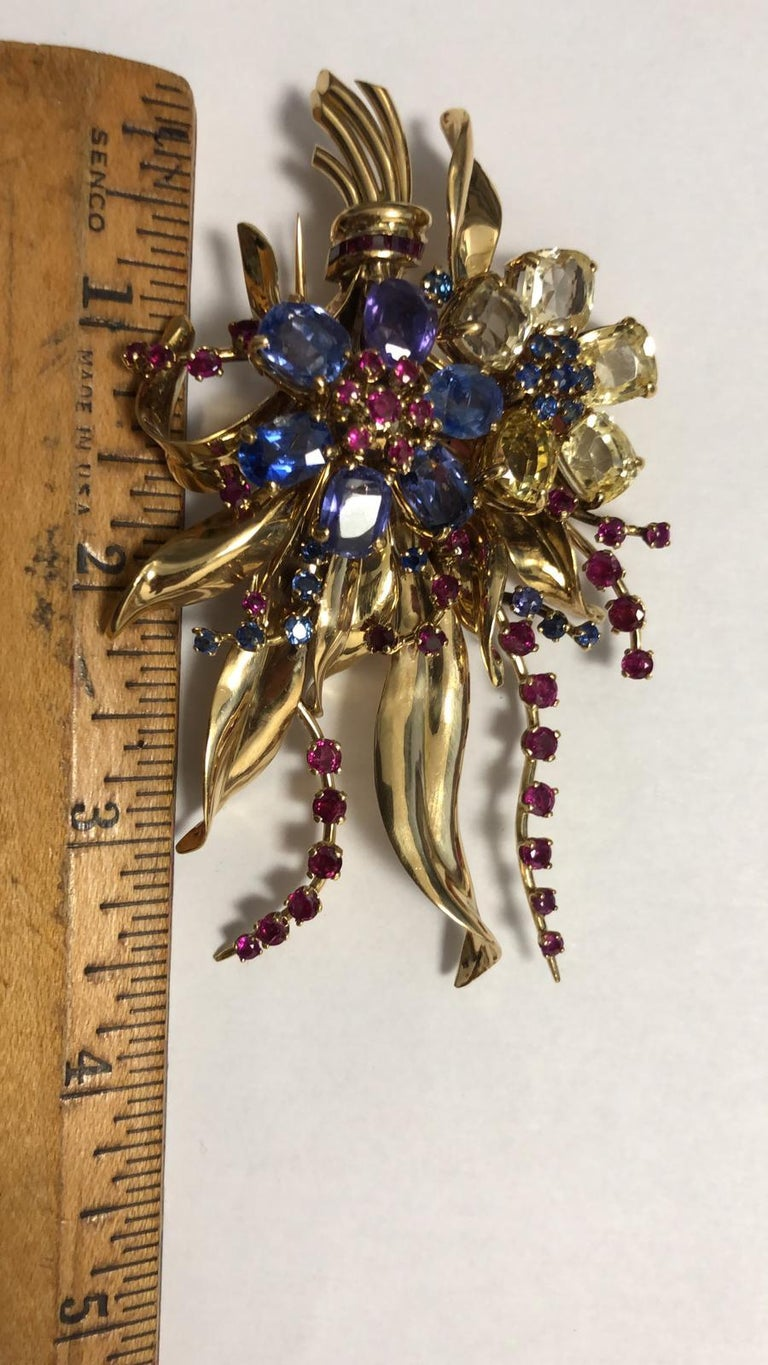 Retro Van Cleef & Arpels Flower Brooch For Sale