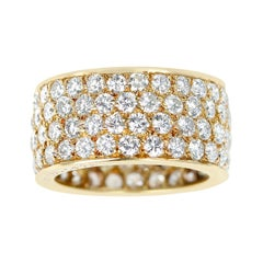 Van Cleef & Arpels Four Row Diamond Band, 18k Yellow Gold