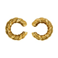 Van Cleef & Arpels, France 1970s Gold Hoop Earrings