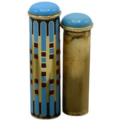 Van Cleef & Arpels, France, Art Deco, 18 Karat Gold and Enamel Lipstick Holder
