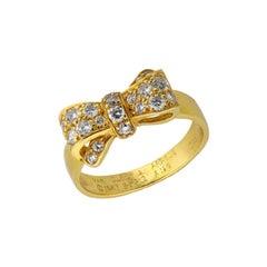 Van Cleef & Arpels France Diamond Bow Ring