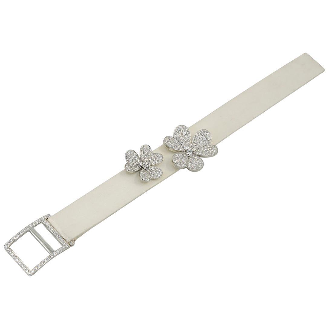 Van Cleef & Arpels Friviole Diamond White Gold Bracelet