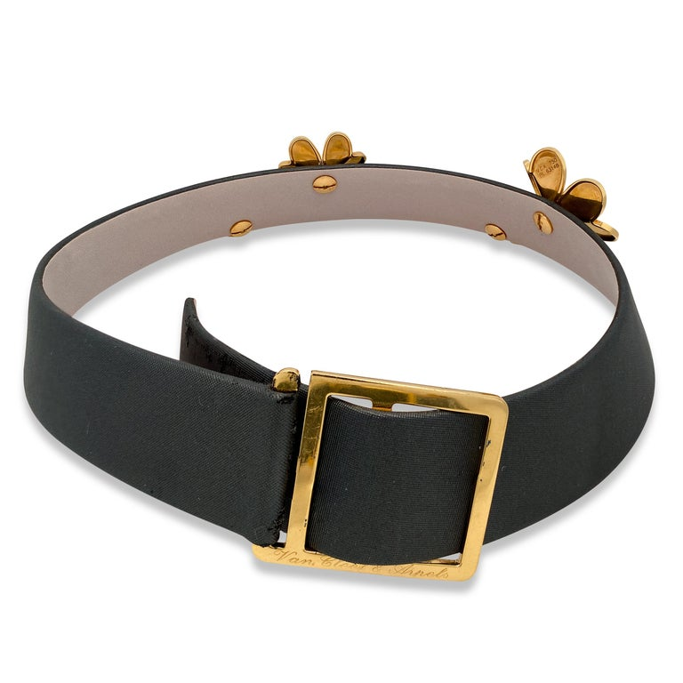 Van Cleef & Arpels Frivole 18 Karat Yellow Gold Diamond Collar Choker Necklace For Sale 1
