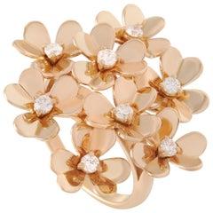 Van Cleef & Arpels Frivole 18 Karat Yellow Gold Diamond Ring