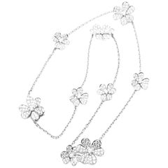 Van Cleef & Arpels Frivole 9 Flower Diamond White Gold Necklace