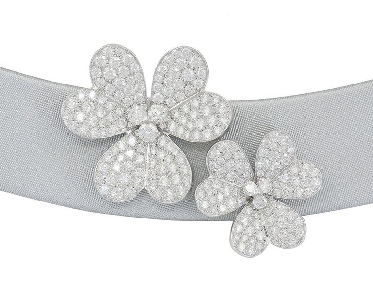 Van Cleef & Arpels Frivole Diamond Collar Necklace In Good Condition For Sale In New York, NY