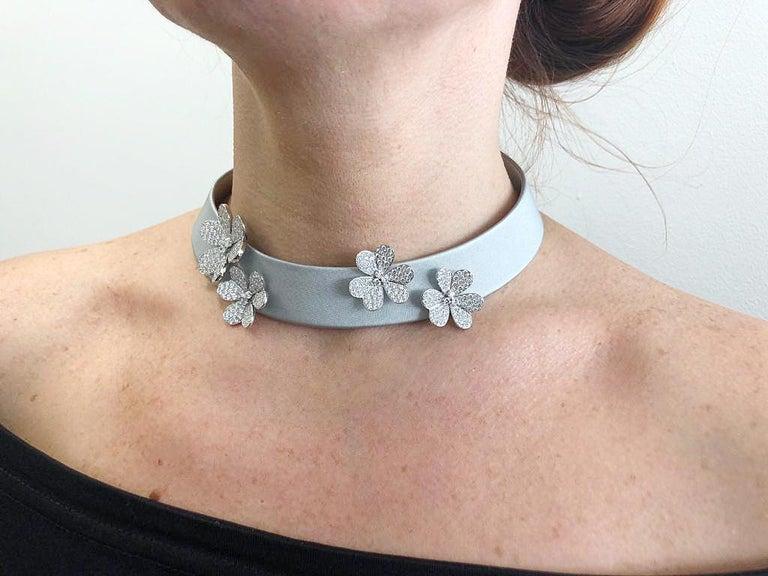 Van Cleef & Arpels Frivole Diamond Collar Necklace For Sale 1